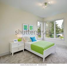 Contemporary Blue Green Kids Bedroom Walls Stock Photo Edit Now 644816236