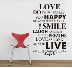 Amazon Com Diy Happy Live Laugh Love Smile Inspirational Quote Wall Paper Art Vinyl Decal Sticker Home Kitchen