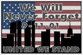 9 11 Never Forget Flag United We Stand Ground Zero Us Flag Vinyl Decal Sticker Ebay