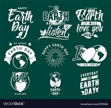happy earth day element set royalty vector image