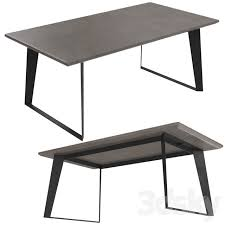 boone dining table concrete resin top
