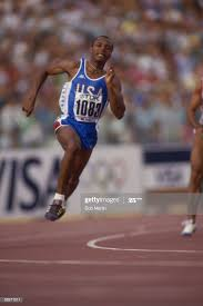Calvin Smith of the USA on his way to winning the 200 metres in ...