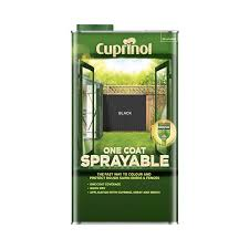 Cuprinol One Coat Sprayable Shed Fence Paint Black 5l Homebase