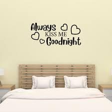 Always Kiss Me Goodnight Wall Decal Master Bedroom Wall Decal Hand Drawn Design Sticker Walmart Com Walmart Com