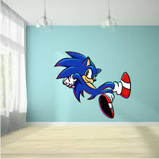 Super Sonic The Hedgehog Smash Nintendo Games Cartoon Character Wall Art Vinyl Sticker Decal Baby Girl