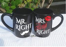 Mr Right Mrs Always Right Set Vinyl Decal Stickers Wedding Gift Great Deal 1 Set Personalized Mugs Not Inclu Vinyl Decals Personalized Mugs Vinyl