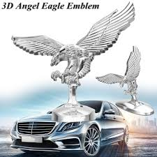 Metal Chrome 3d Emblem Flying Angel Eagle Stickers Cover Front Hood Ornament Decals Auto Car Motorcycle Truck Head Decoration Car Stickers Aliexpress