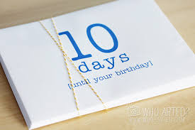 birthday countdown envelope who arted