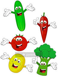 Vegetable Cartoon Character Wall Decal Pixers We Live To Change