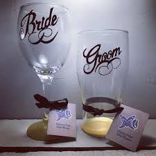 bride and groom wedding day present