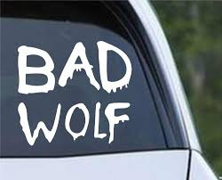 Doctor Who Bad Wolf Graffitti Die Cut Vinyl Decal Sticker Decals City