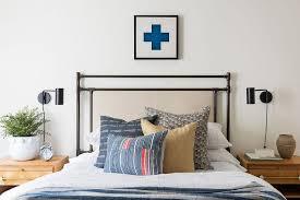 Beige And Tan Kids Bed With Wood Chevron Nightstands Cottage Bedroom