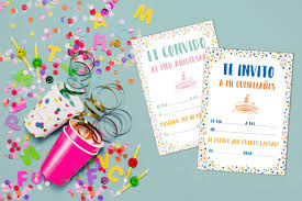 Invitaciones Para Cumpleanos Confeti Personaliza Tu Papeleria