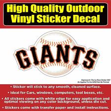 San Francisco Giants Baseball Team Vinyl Car Window Lap