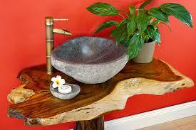 solid teak root wood vanity slab