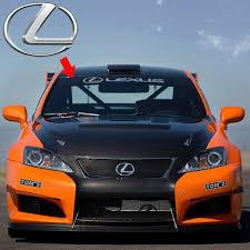 1 X Reflective Lexus Logo Car Windshield Sunshade Sticker Window Decal For Toyota Lexus Ct Es Is Gs Ls Lx Rx Gx Nx Sc Lfa Rc Rc F Gs F Hs Lc