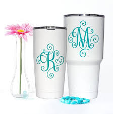 Yeti Single Letter Decal Initial Decal Letter Decal Etsy In 2020 Yeti Cup Designs Letter Decals Decals For Yeti Cups