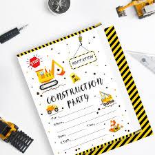 2019 Tarjetas De Cumpleanos De Construccion Invitaciones