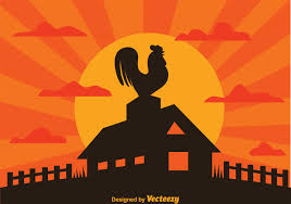 Rooster On Farm Silhouette Download Free Vectors Clipart Graphics Vector Art