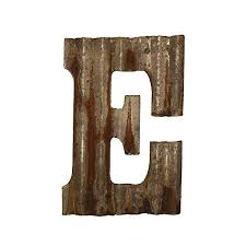 wall decor corrugated metal letter