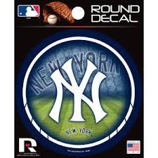 New York Yankees Round Sticker At Sticker Shoppe