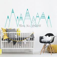 Patterned Mountains Wall Decal Mountain Woodland Nursery Tribal Wall Decals Nordic Style Home Decor Vinyl Wall Stickers A836 Decor Wall Decals Decor Wall Sticker From Chairdesk 15 26 Dhgate Com