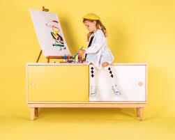 Lukka Modern Kids Credenza Console Maple Yellow Modern Kids Orange County By Nico And Yeye