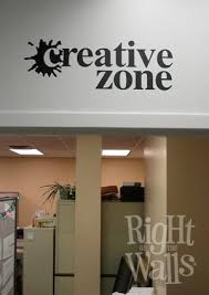 Creative Zone Creativity Wall Decals Vinyl Art Stickers
