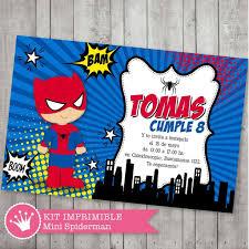 Kit Imprimible Mini Spiderman Decora Tu Cumple