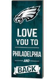 philadelphia eagles 18x7 love you to