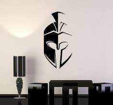 Vinyl Wall Decal Spartan Helmet Sparta Warrior Mask Ancient Stickers M Wallstickers4you