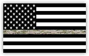 Amazon Com Thin Green Line Flag Decal Operational Camouflage Pattern Ocp Camo Usa American Flag Sticker For Cars Trucks In Honoring And Support Of Our Troops Black Camo And White Vinyl Window Bumper