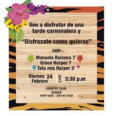 Tarjetas Invitacion Carnaval De Barranquilla Carnaval