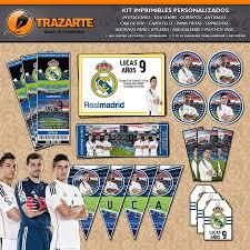Kit Imprimible Real Madrid Futbol Personalizado Candy Bar 600