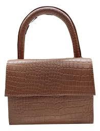 modern tan genuine leather handbag for