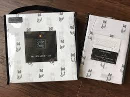 deep pocket queen sheets grey kitten