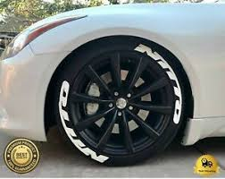 Permanent Tire Lettering Nitto Stickers Wheel 14 24 Tyre Decal 8 1 Pack 1 25 Ebay