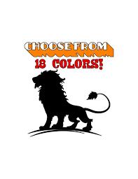 Lion Vinyl Decal Lion Laptopwallcar Truck Sticker Etc Lion Etsy