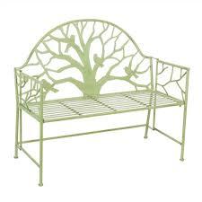 mint tree metal outdoor garden bench