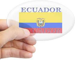 Amazon Com Cafepress Ecuador Ecuadorian Flag Oval Sticker Oval Bumper Sticker Euro Oval Car Decal Home Kitchen