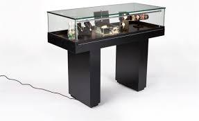 led display case hydraulic lift