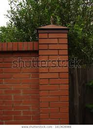 Post Red Brick Fence Old Fence Stock Photo Edit Now 1413626966