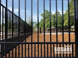 Dog Park Fences Designed For Small And Large Dogs By Seegars Fence Company In 2020 Fence Design Fencing Companies Chain Link Fence Installation