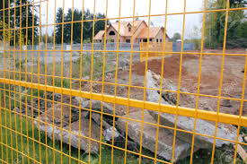 Fencing Is Erected Around The Perimeter Of A Construction Site Stock Photo Picture And Royalty Free Image Image 38890329
