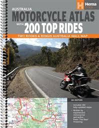 Hema Australia Motorcycle Atlas + 200 Top Rides - Spiral Book - Edition 6 - Tentworld