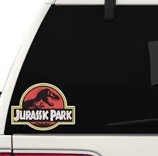 Amazon Com Jurassic Park Printed Decal Car Truck Window Laptop Toolbox Funny Joke Sticker Slap Cool Badass Arts Crafts Sewing