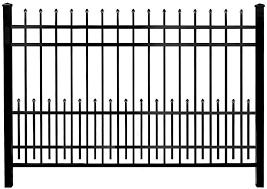 Amazon Com Mainstreet Aluminum Fence 3 4 In X 2 Ft X 6 Ft Aluminum Black Puppy Guard Add On Panel Garden Outdoor