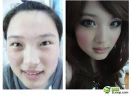korean before and after makeup