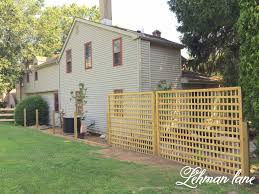 Diy How To Build A Beautiful Square Lattice Fence For Privacy Lehman Lane Fence Decor Backyard Fences Diy Fence
