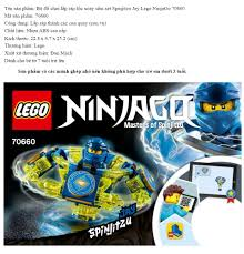 Bộ đồ chơi lắp ráp lốc xoáy sấm sét Spinjitzu Jay Lego NinjaGo ...